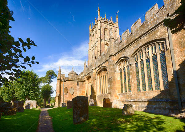 Church and graveyard in Chipping Campden Stock photo © backyardproductions