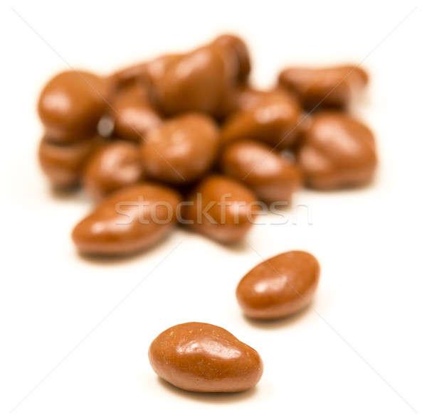 шоколадом изюм белый макроса изолированный Сток-фото © backyardproductions