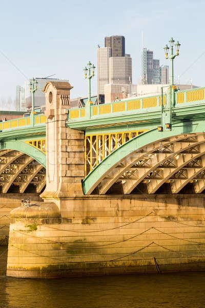 Underneath Southwark Bridge in London Stock photo © backyardproductions