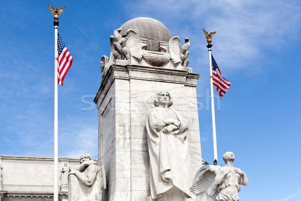Сток-фото: фонтан · Союза · станция · Вашингтон · статуя · флаг