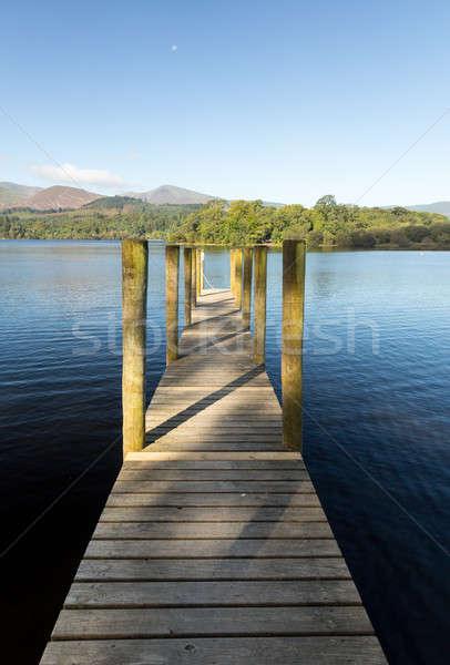 Molo wody lake district krawędź angielski Zdjęcia stock © backyardproductions
