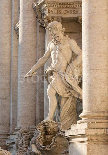 Trevi Çeşmesi ayrıntılar Roma İtalya taş mermer Stok fotoğraf © backyardproductions