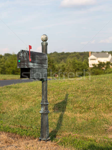 US post or mail box by side of street Stock photo © backyardproductions