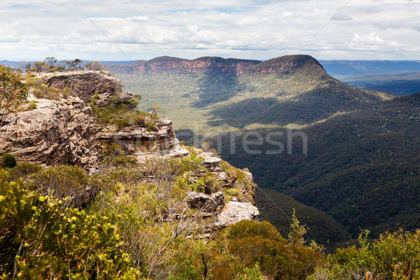 Landslide Lookout in Blue Mountains Australia Stock photo © backyardproductions
