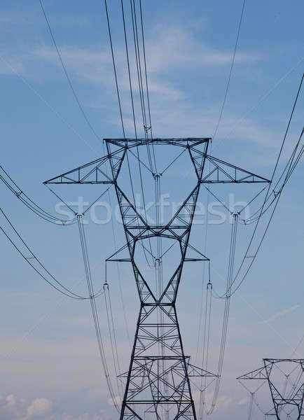 Electricity Pylons Stock photo © backyardproductions