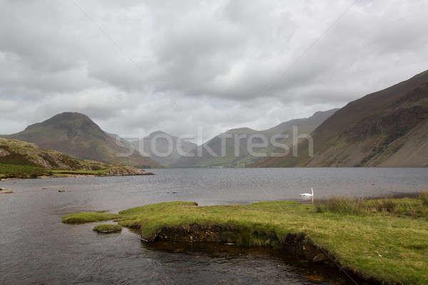 Acqua english lake district nuvoloso giorno panorama Foto d'archivio © backyardproductions