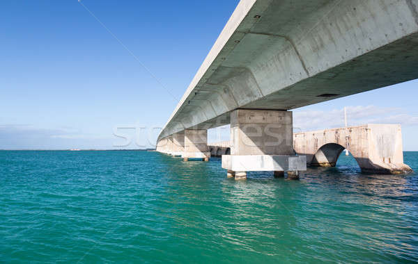 Florida Keys bridge and heritage trail Stock photo © backyardproductions