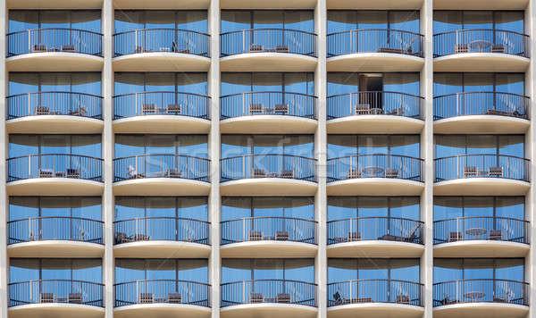Pattern of hotel room balconies  Stock photo © backyardproductions