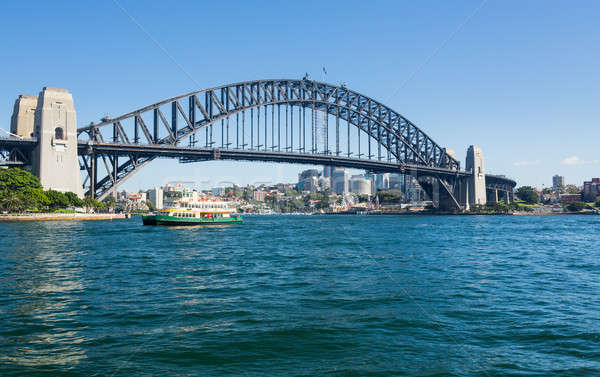 Dramatic panoramic photo Sydney harbor Stock photo © backyardproductions
