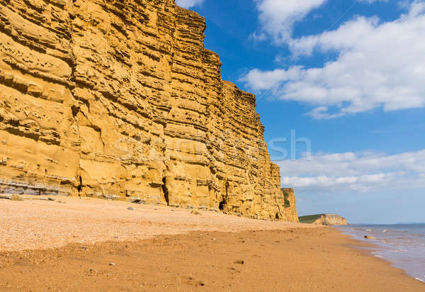 Jurassic Cliffs at West Bay Dorset in UK Stock photo © backyardproductions