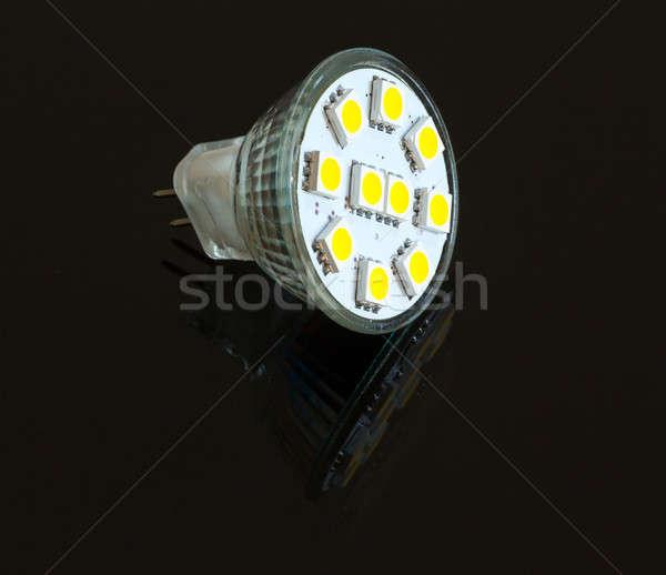 LED light bulb lit from above Stock photo © backyardproductions