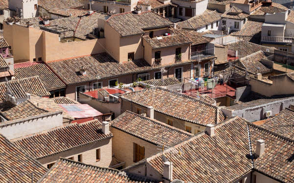 View of roof tops of Toledo city in Spain Stock photo © backyardproductions