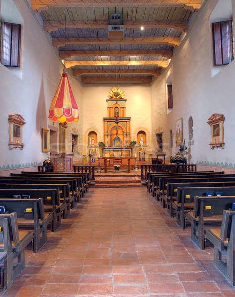 Interior San Diego misión basílica altar Foto stock © backyardproductions