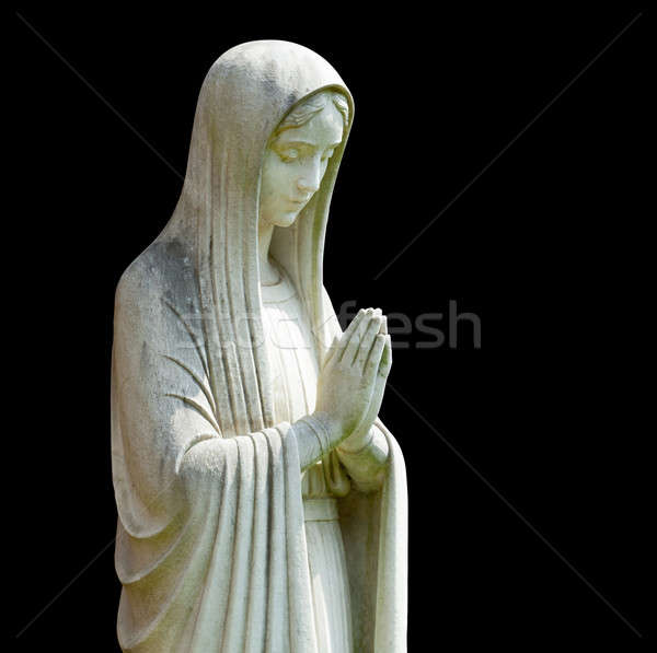 Isolated statue of Mary Stock photo © backyardproductions