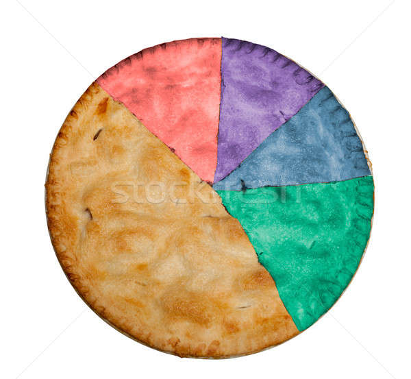 Homemade apple pie marked up as pie chart Stock photo © backyardproductions