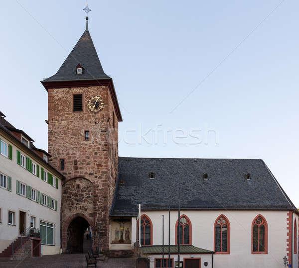 Town of Hirschhorn Hesse Germany Stock photo © backyardproductions