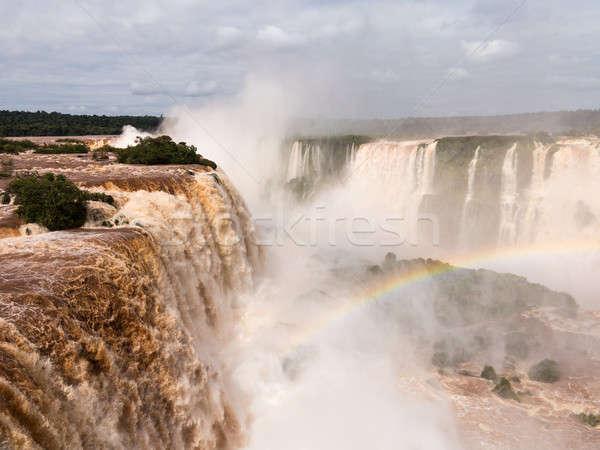River leading to Iguassu Falls Stock photo © backyardproductions