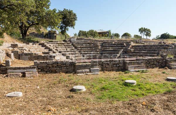 Ruínas velho anfiteatro cidade rocha arquitetura Foto stock © backyardproductions