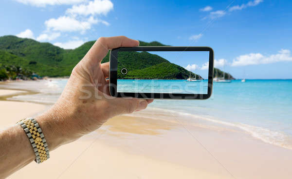 Snapshot of beach at Anse Marcel on St Martin Stock photo © backyardproductions