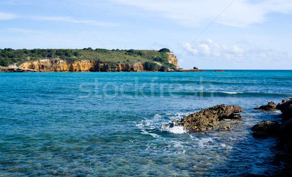 Rocky headland off Puerto Rico Stock photo © backyardproductions