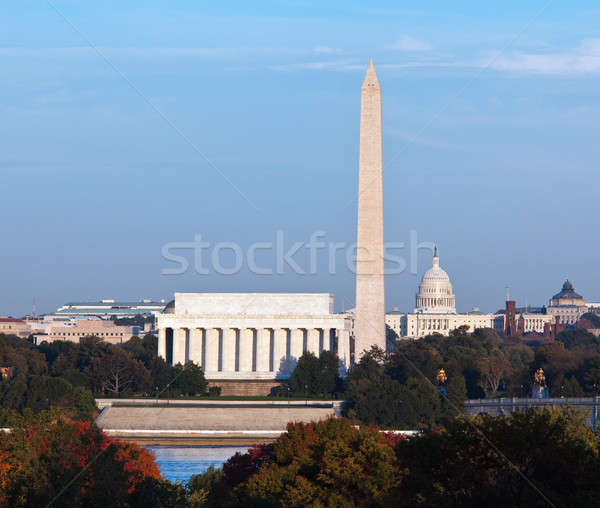 Sunset over Washington DC Stock photo © backyardproductions