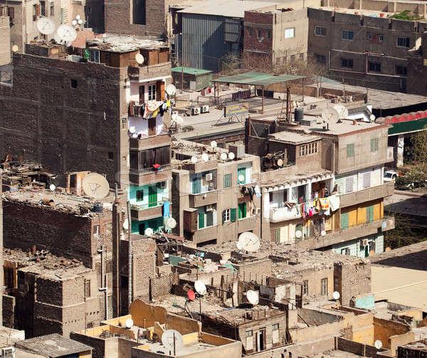 трущобы Каир Египет зданий центра Сток-фото © backyardproductions