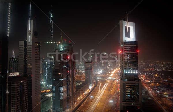 Cityscape Dubai città grattacielo blocchi view Foto d'archivio © backyardproductions