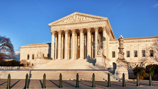 Winter trees frame Supreme court Stock photo © backyardproductions