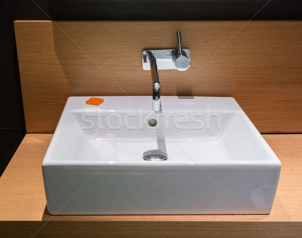 Modern wash bowl in bathroom Stock photo © backyardproductions