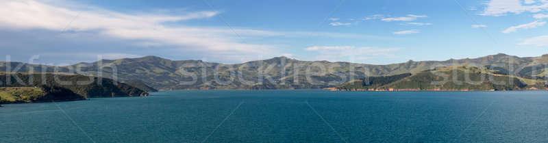 海岸線 ニュージーランド パノラマ 表示 周りに 港 ストックフォト © backyardproductions