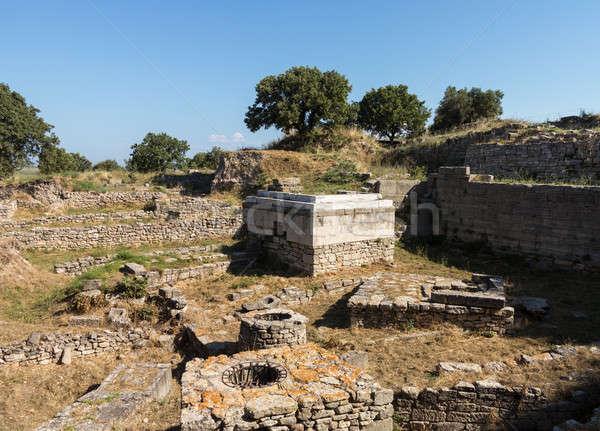 Rovine vecchio edifici città architettura greco Foto d'archivio © backyardproductions