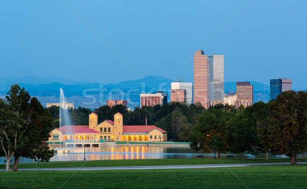 Сток-фото: Skyline · рассвета · Колорадо · город · парка