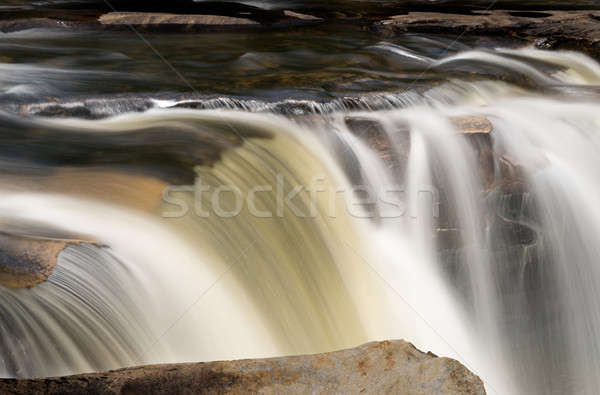 Three distinct waterfalls at High Falls of Cheat Stock photo © backyardproductions
