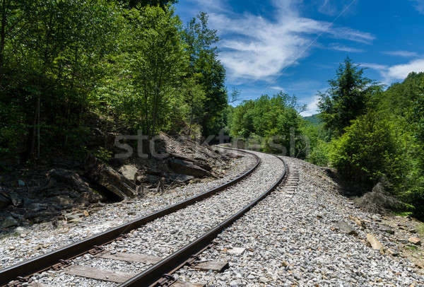 Stock photo: Old railway track at High Falls of Cheat