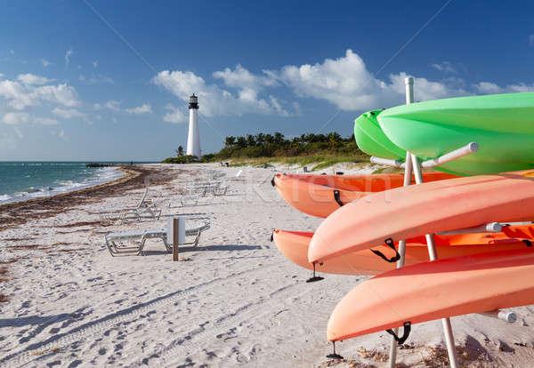 Florida világítótorony számla park kulcs bérlet Stock fotó © backyardproductions