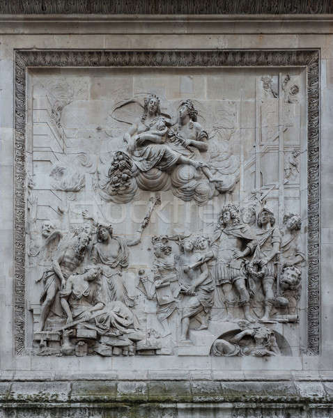 Carving by Caius Gabriel Cibber London Monument Stock photo © backyardproductions