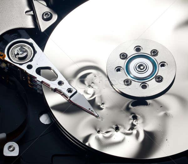 Intérieur endommagé disque dur magnétique disque à l'intérieur Photo stock © backyardproductions