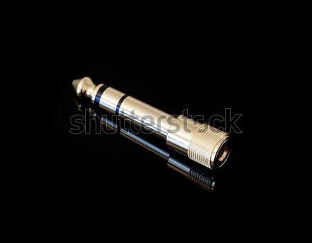 Gold plated jack plug adapter Stock photo © backyardproductions