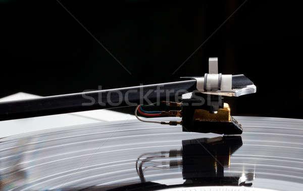 Macro of record turntable cartridge Stock photo © backyardproductions
