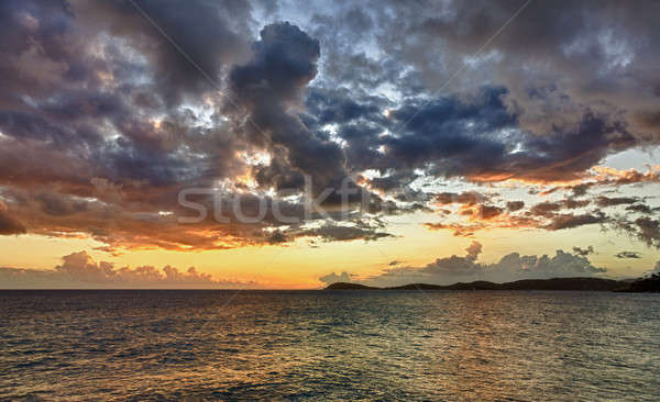 закат океана hdr впечатление острове Сток-фото © backyardproductions