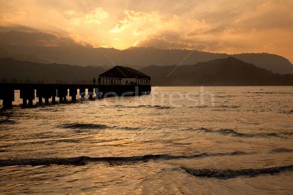 Pier at Hanalei Bay Stock photo © backyardproductions