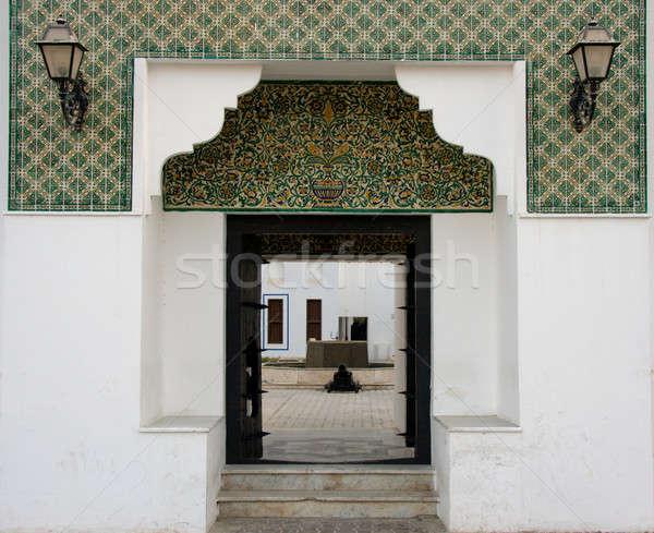 вход форт Абу-Даби плиточные антикварная Сток-фото © backyardproductions