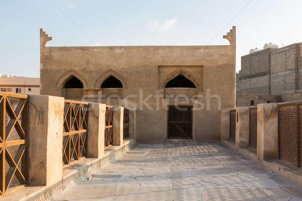 Casa Bahrein telhado edifício oriente médio Foto stock © backyardproductions