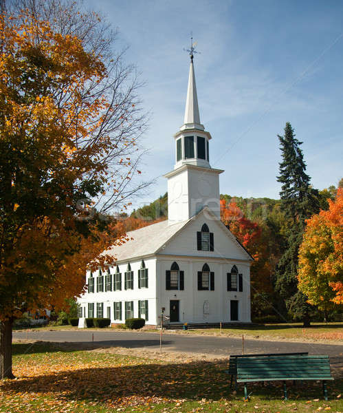 Townshend Church in Fall Stock photo © backyardproductions