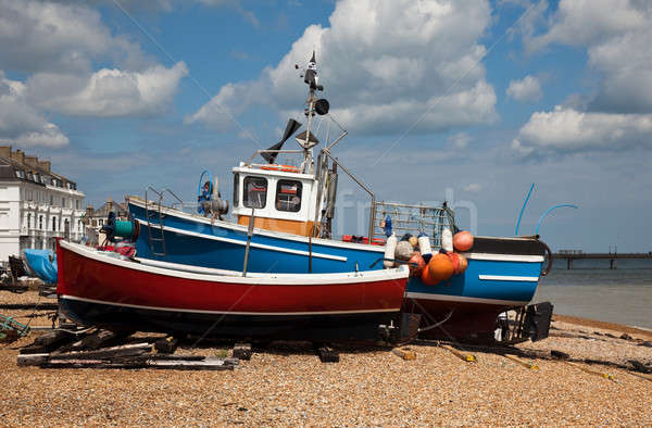 Old boats on Deal Beach Stock photo © backyardproductions