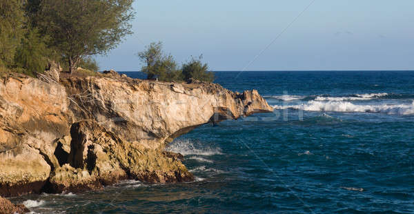 Overhanging lithified cliff Stock photo © backyardproductions