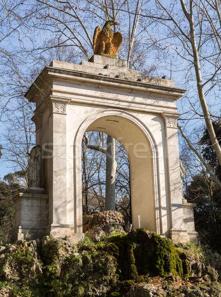 арки фонтан Рим орел статуя вход Сток-фото © backyardproductions