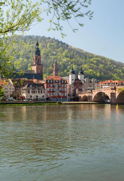 öreg híd város Németország középkori vezető Stock fotó © backyardproductions