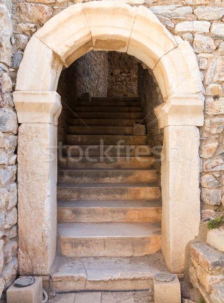 Ancient ruins of old Greek city of Ephesus Stock photo © backyardproductions
