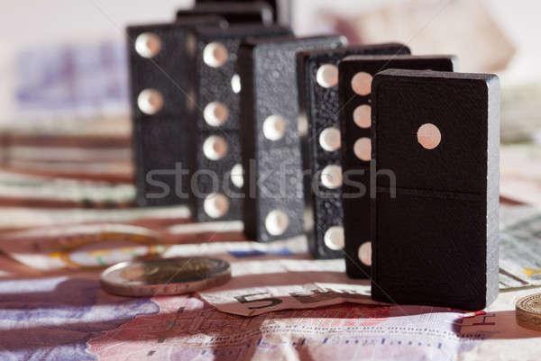 áll bank jegyzetek árnyékok font Euro Stock fotó © backyardproductions